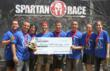 The New City Chiropractic Center Gladiator Team Celebrates with a check for an $8,000 donation to the National MS Society. The total donation will exceed $9,000.