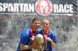 Dr. Michael Cocilovo celebrates with his daughter Katie after completing the Spartan Sprint.