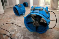 Air movement speeds up water damage recovery