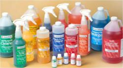 The cleaning chemicals management program includes a variety of quality cleaning products, including all-purpose cleaners, multi-purpose disinfectants, glass and surface cleaners, hard surface sanitizers, pot and pan detergents, heavy duty degreasers and