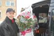 Edwards Florist of Northbrook co-owner and Northbrook resident Jim Fauerbach makes floral deliveries