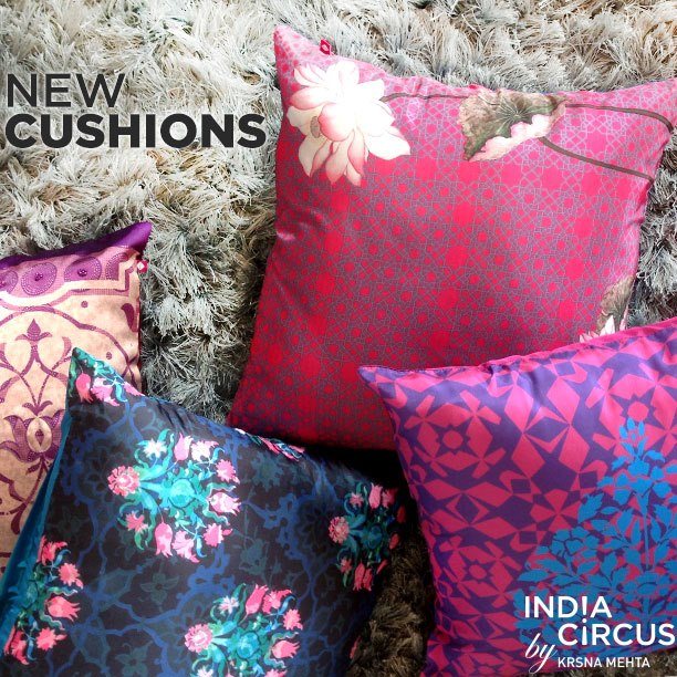 india circus unveils a new collection of pillows throws