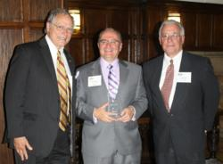 Attorneys Richard S. Scanlan, member; Anthony J. Enea, managing member; and George A. Sirignano Jr., member; of Enea, Scanlan & Sirignano, LLP in White Plains, N.Y, at the Above the Bar Awards.