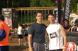 Dr. Gil Rodriguez (left) and Dr. Mike Cocilovo of New City Chiropractic Center arrive at the Spartan Race in Tuxedo New York.