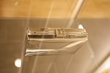 Jill Milan's Art Deco Clutch in silver (Moanalani Jeffrey Photography)