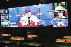 Matrox Mura MPX boards showcase live sporting events on an 18-monitor installation.
