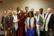 His Holiness the Fourteenth Dalai Lama takes a group photo after a private audience with Dalai Lama Fellows program staff, five representative Fellows, and close advisors.