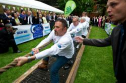 One of the teams in the Parliamentary of Tug of War