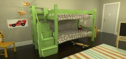 Winslow - Bunk Bed with Stairs by Maine Bunk Beds