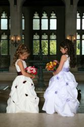 Flower Girl Dress with sash and flowers