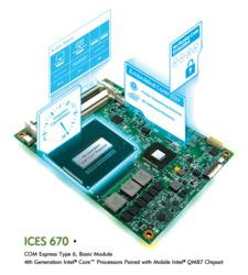 ICES 670 - COM Express Type 6, Basic Module with Mobile Intel® QM87 chipset 4th Generation Intel® Core™ Processors
