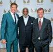 (Left to right) Actor David Hasselhoff, NFL Hall of Fame inductee and Heisman Trophy winner Earl Campbell, and sports agent and lawyer Leigh Steinberg at the 10th Annual Triumph for Teens Awards Gala.