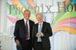 (Left to right) Allergan Founder Gavin S. Herbert presented the 2013 Public Service Award to Allergan Chief Executive David E.I. Pyott at Phoenix House's 10th Annual Triumph For Teens Awards Gala.