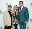 (Left to right) Baywatch producers Michael and Michele Berk with actor David Hasselhoff at Phoenix House's 10th Annual Triumph For Teens Awards Gala.