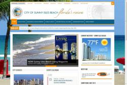 City of Sunny Isles Beach re-designed website home page