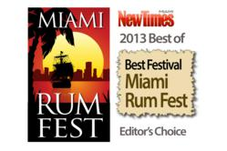 Miami Rum Festival is named Best Festival In Miami by Miami New Times