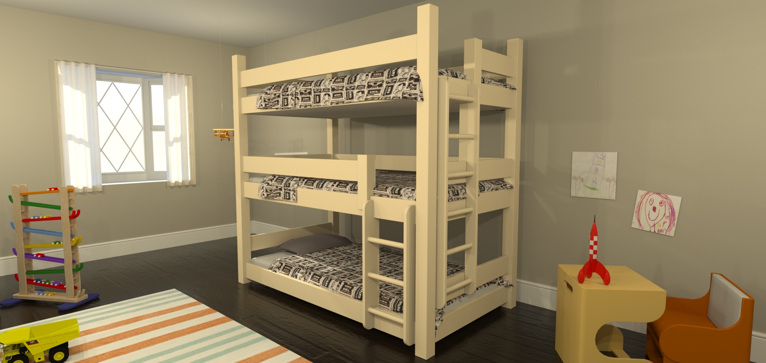 Triple Bunk | www.woodworking.bofusfocus.com