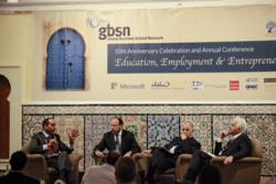 A discussion of the ecosystem of entrepreneurship and employment in the MENA region at the GBSN annual conference with Tarik Yousef, Mustapha Nabli, Kamel Lazaar and Tawfik Jelassi