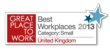 ASI again named a 'UK Best Workplace' in 2013
