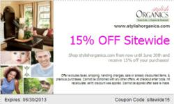 June Discount Coupon for stylishorganics.com