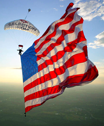 American Flag, skydive, team fastrax