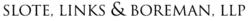 SLOTE, LINKS & BOREMAN, LLP logo