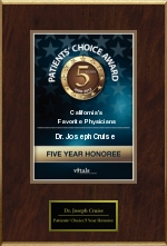 Dr. Joseph T. Cruise of Newport Beach, CA is Selected as a Five-Time...
