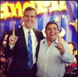 LA Mayor Eric Garcetti with El Mandril