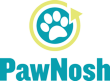 PawNosh glass pet food bowls logo