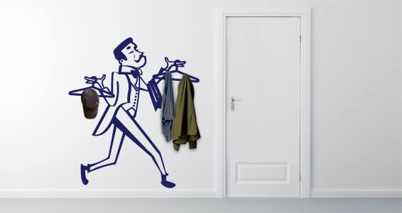 Coat Rack Wall Decals Wall Art Has Just Became Functional