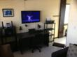 1BR: Living Room, Desk & Media Center