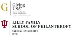 Giving USA and School of Philanthropy logos