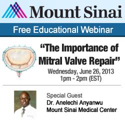 Announcing the Mitral Valve Repair Surgery Webinar