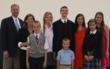 Everest graduate & award winner James Beecher of Lemont with his proud family