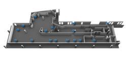 3D floor plan graphic