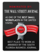 answerQUEST best place to work nomination by South Florida Business Journal