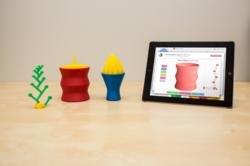 "3D objects ""designed"" using the Smart Objects application."