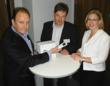 Left to Right: David Wright (MD, ViVO), John Weightman (BDM, ViVO) and Philippa Bevan (Partner, Accelerate)