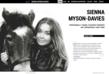 Graphic Evidence create stylish website for International Event Rider and television presenter Sienna Myson Davies