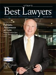 Cover of Utah's Best Lawyers Magazine