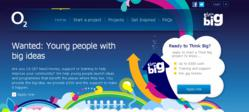 logo and website for O2's Think Big