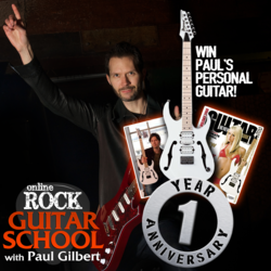 win a free guitar from Paul Gilbert