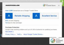 MakeStickers.com Trusted Store Verification