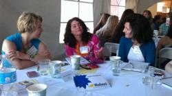 The Windward-hosted table at the Women In Tech conference