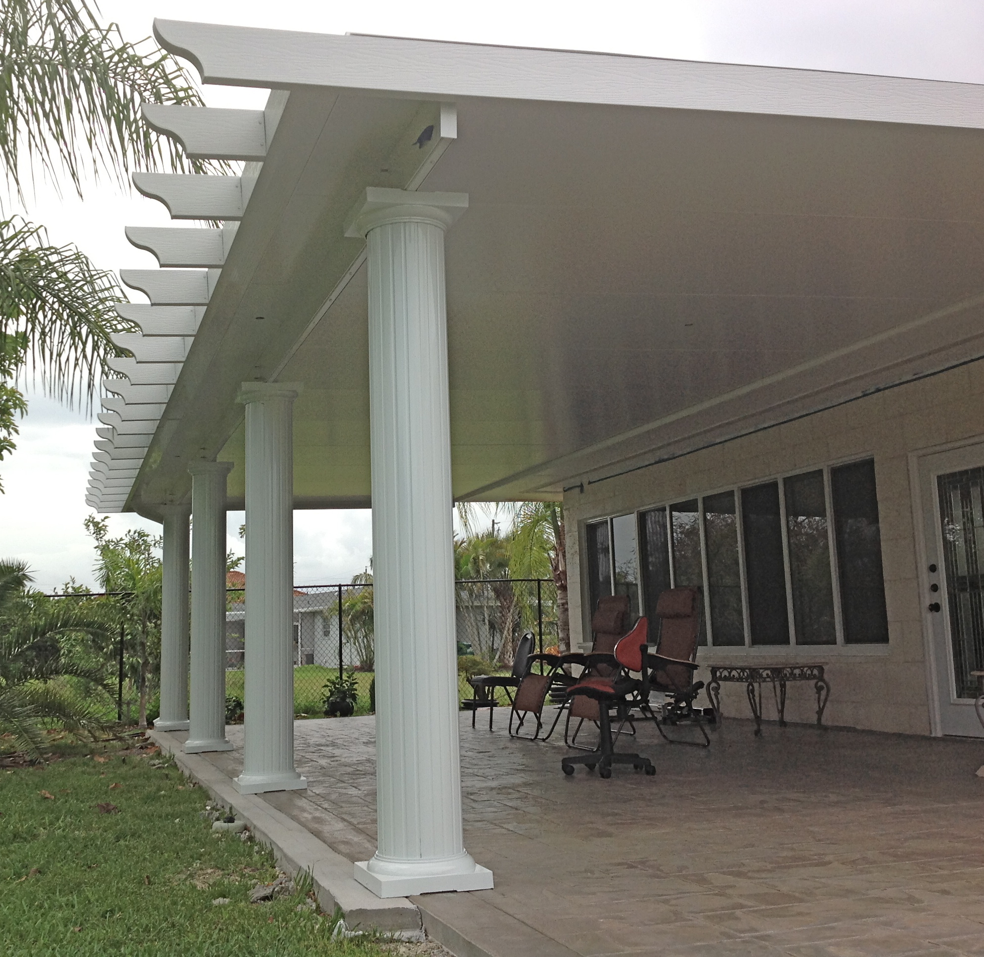 Screen patio covers patio roofs led residential sales to for Screen porch roof options
