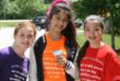Diana Foran of Homer Glen, with Alia Akoush & Mercedes Patterson of Lemont enjoy snow cones on Everest's last day of school