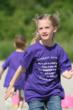 Therese Yep, 2nd grader of Homer Glen, succeeds at the team relay race