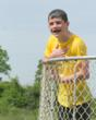 Timmy Lawler, 8th grader from Lemont, concludes his last Field Day at Everest in the 'dunk tank'