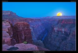 Supermoon at Toroweap Point at the Grand Canyon by Jason Hines