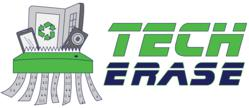 Tech Erase logo, showing some of the devices we shred.